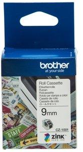 CZ-1001 Brother kleuren rol cassette 9mm breed.