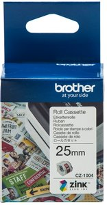 CZ-1004 Brother kleuren rol cassette 25mm breed.